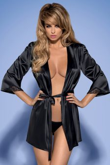 Satinia black robe