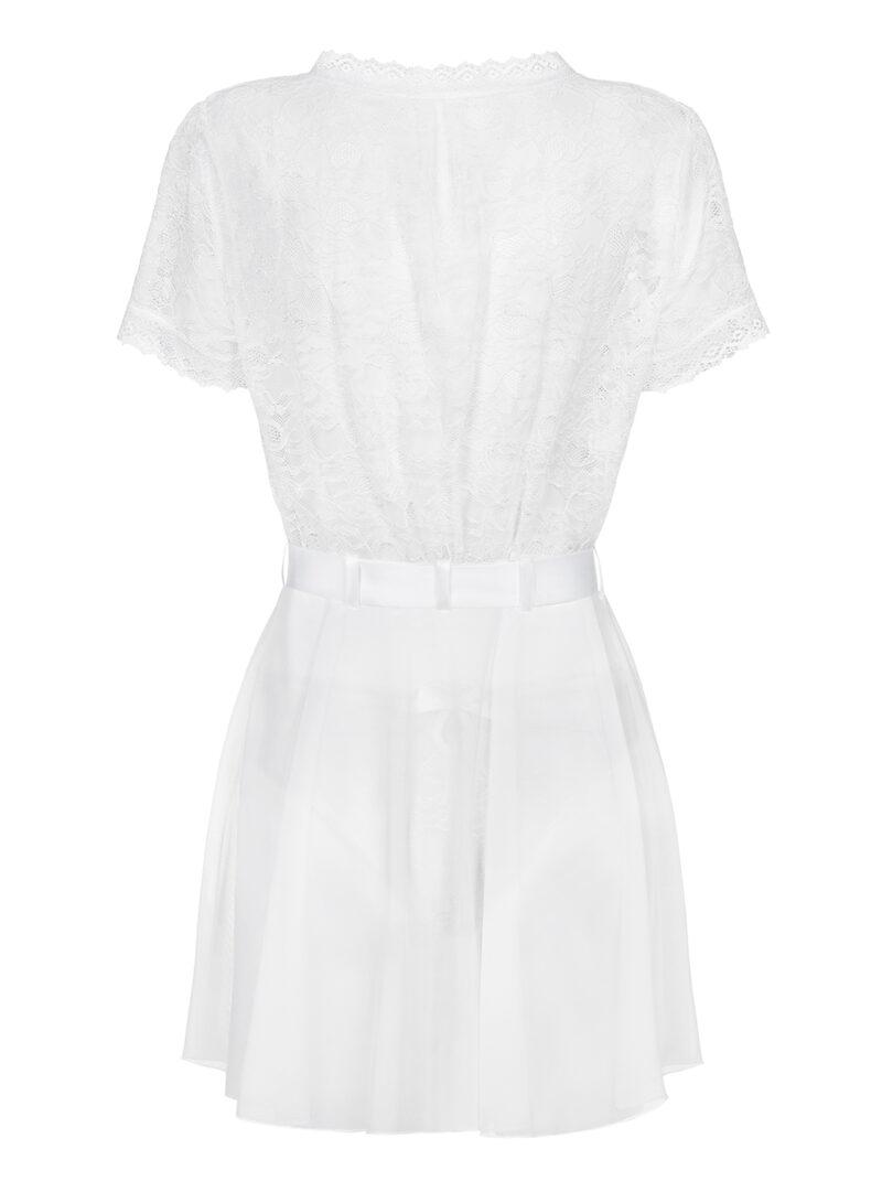 Swanita valge hommikumantel
