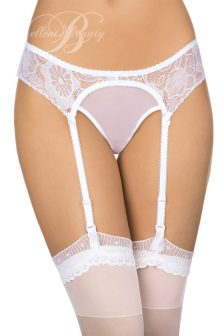 T505 panties with suspenders(white)