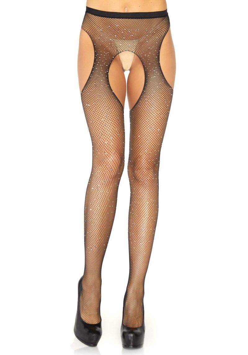 stockings 9018 rhinestones
