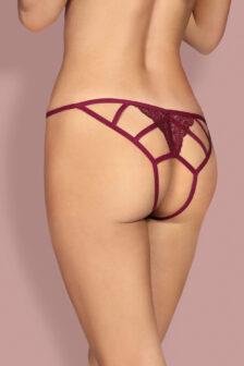 Miamor crotchless panties (maroon)