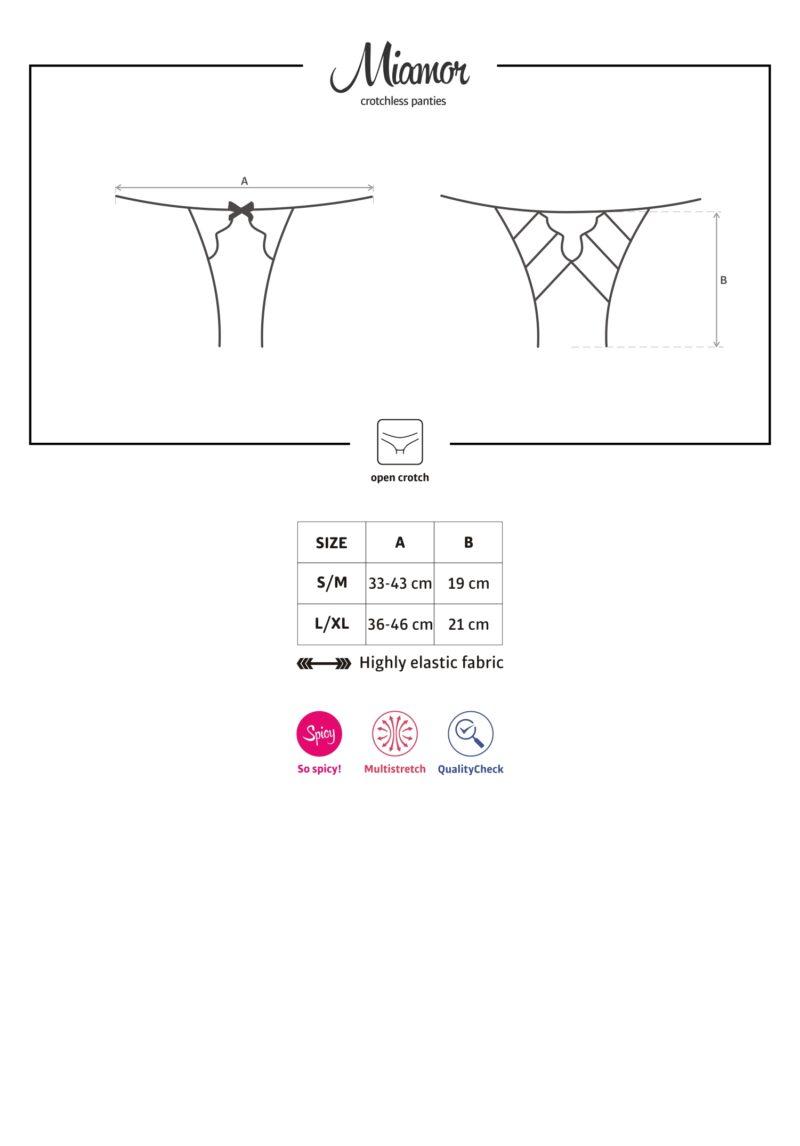 Miamor avatud püksikud (kirss)
